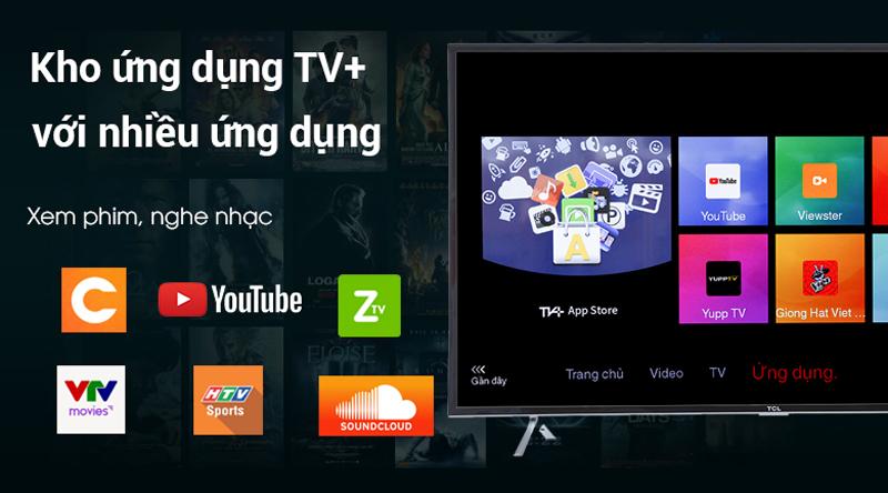 Kho ứng dụng trên Smart tivi TCL 4K 50 inch L50P62
