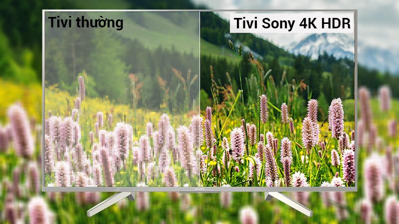 Công nghệ 4K HDR trên tivi Sony X8500F/S