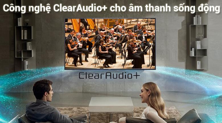 công nghệ ClearAudio+ trên Android Tivi Sony 4K 43 inch KD-43X7500F