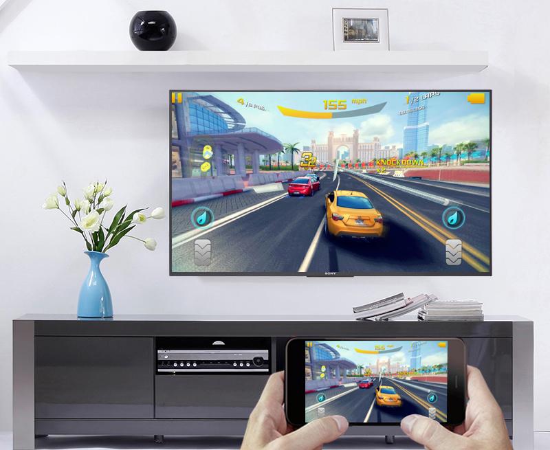 Chiếu màn hình điện thoại lên Android Tivi Sony 4K 43 inch KD-43X7500F