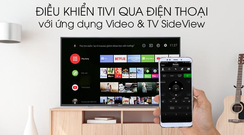 Điều khiển tivi bằng điện thoại trên Android Tivi Sony 4K 49 inch KD-49X7500F
