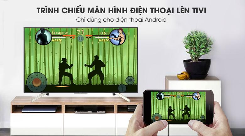 Chiếu màn hình điện thoại lên Android Tivi Sony 4K 49 inch KD-49X7500F