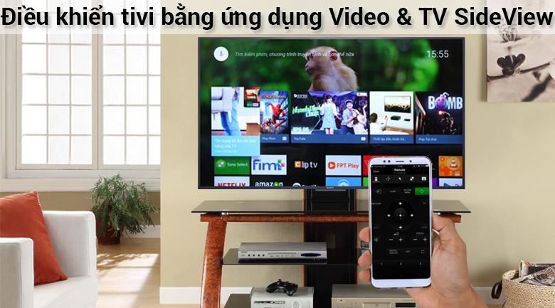 Điều khiển tivi bằng điện thoại trên Tivi Sony 4K 49 inch KD-49X7500F