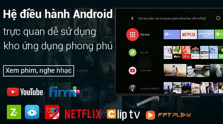 Android Tivi Sony 4K 49 inch KD-49X8500F - Hệ điều hành Android 8.0 thông minh, thân thiện
