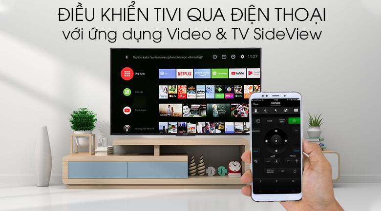 Android Tivi Sony 4K 55 inch KD-55X8500F - Điều khiển tivi bằng điện thoại