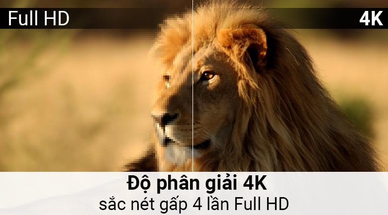 Độ phân giải 4K trên Android Tivi Sony 4K 55 inch KD-55X8500F/S