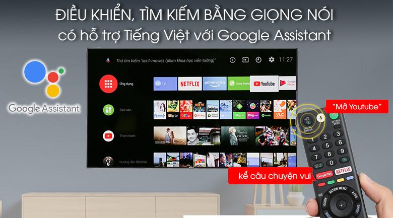Android Tivi Sony 4K 55 inch KD-55X9000F - Tivi điều khiển, tìm kiếm bằng giọng nói tiếng Việt nhanh chóng qua remote và Google Assistant