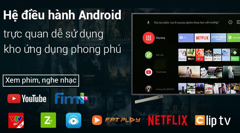 Android Tivi Sony 4K 55 inch KD-55X9000F - Trải nghiệm tuyệt vời cùng hệ điều hành Android 8.0 dễ sử dụng
