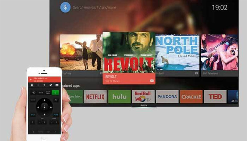 Điều khiển tivi bằng ứng dụng Sony