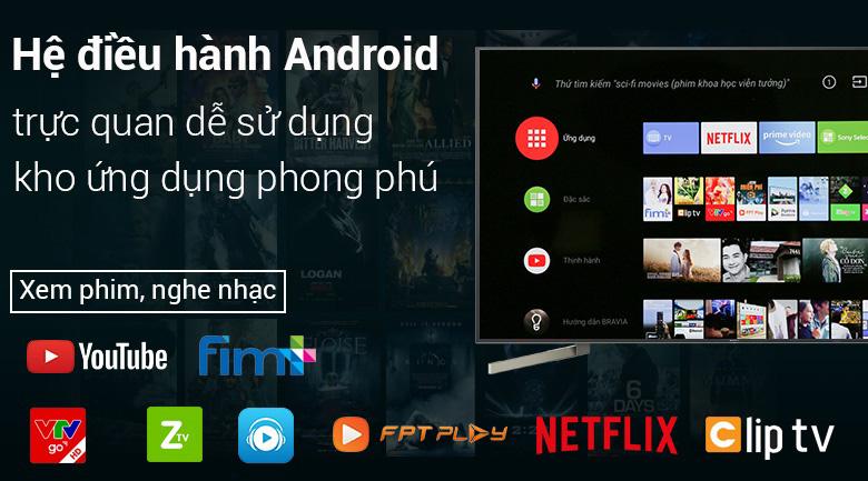 Hệ điều hành Android 8.0 trên Tivi Sony 4K 65 inch KD-65X9000F