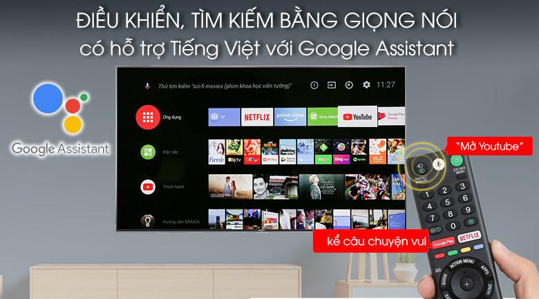 Điều khiển, tìm kiếm giọng nói bằng tiếng việt trên Android Tivi Sony 4K 65 inch KD-65X9000F