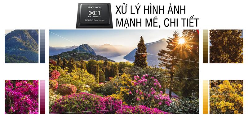 Chip xử lý hình ảnh 4K X1 Extreme trên Android Tivi Sony 4K 65 inch KD-65X9000F