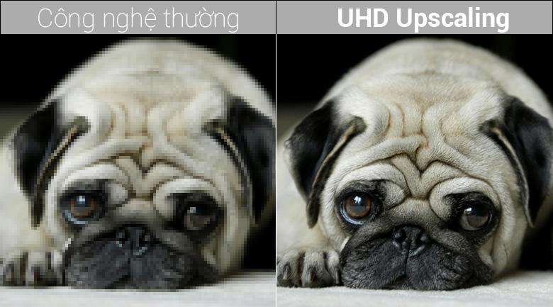 Công nghệ UHD Upscaling trên Smart Tivi QLED Samsung 4K 75 inch QA75Q7FN