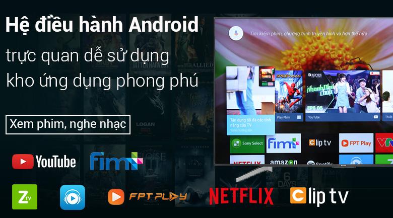 Android Tivi Sony 4K 75 inch KD-75X8500F có trả góp, giá tốt 08/2019