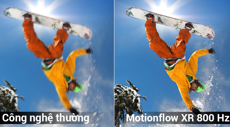 Công nghệ Motionflow XR 800 Hz  trên Android Tivi Sony 4K 65 inch KD-65X8500F