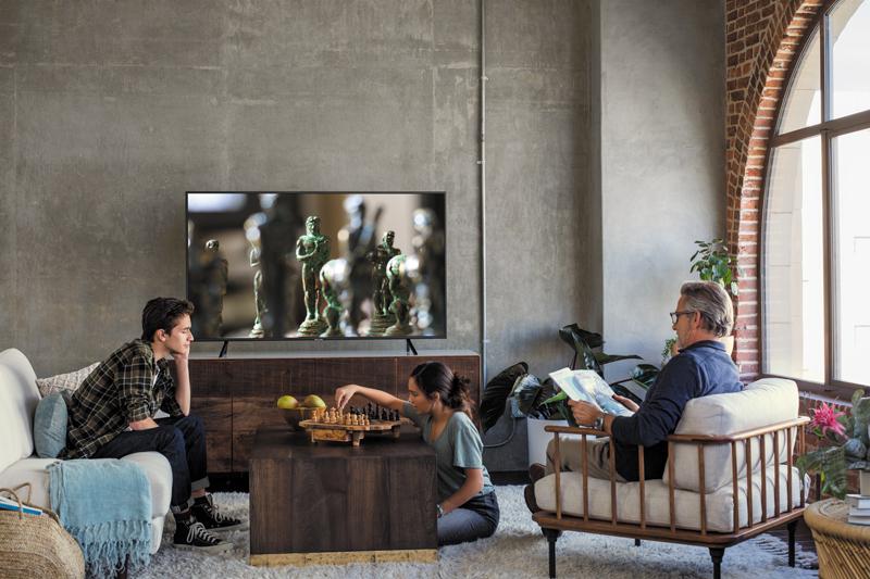 Thiết kế sang trong hiện đại Smart Tivi Samsung 4K UA49NU7100