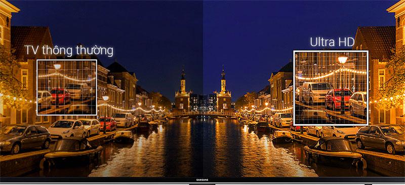 Độ phân giải Ultra HD 4K sắc nét gấp 4 lần so với tivi Full HD thông thường