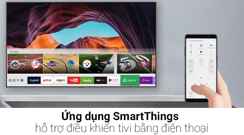 ứng dụng Samsung SmartThings trên Smart Tivi QLED Samsung 4K 75 inch QA75Q9FN