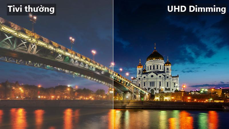 Công nghệ UHD Dimming Smart Tivi Samsung 43 inch UA43NU7100