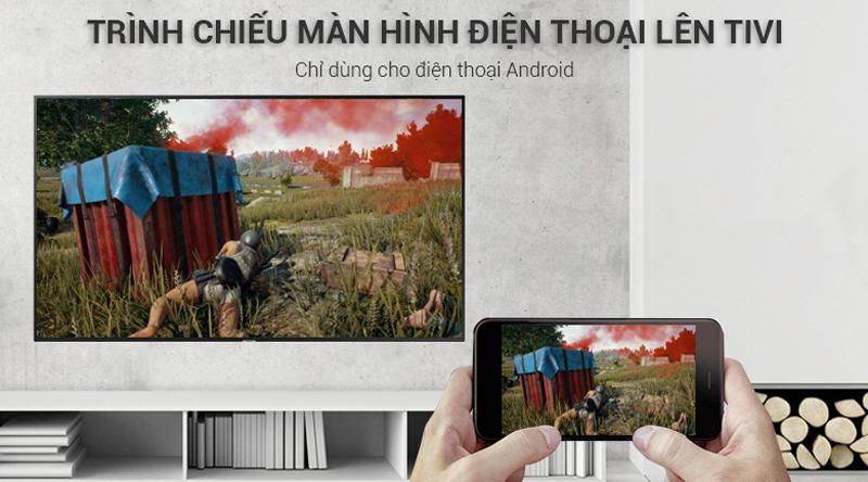 Chiếu màn hình điện thoại lên tivi Tivi Samsung 4K 55 inch UA55NU7100
