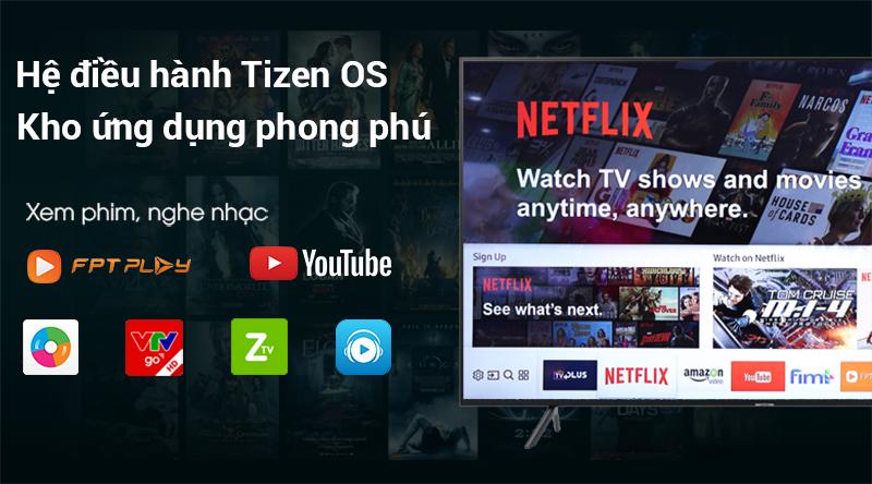 Hệ điều hành Tizen OS Tivi Samsung 4K 55 inch UA55NU7100