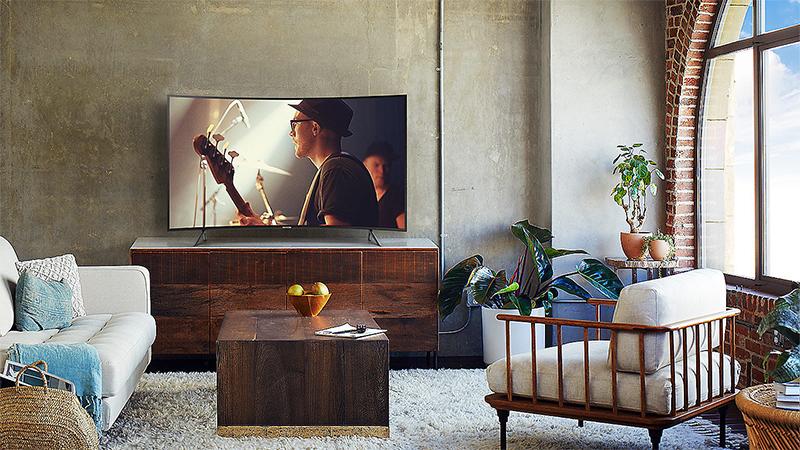 Tổng quang thiết kế Smart Tivi Cong Samsung 4K 55 inch UA55NU7300