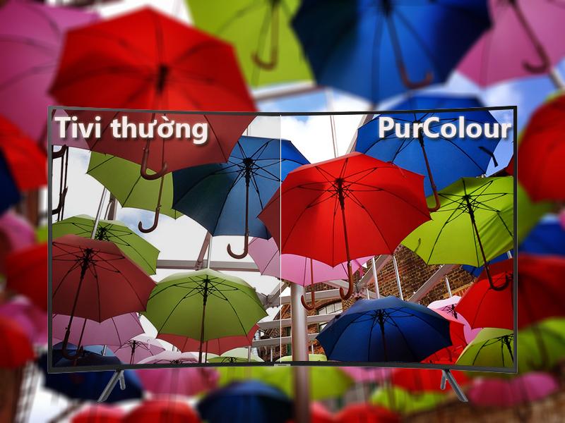 công nghệ PurColor Smart Tivi Cong Samsung 4K 55 inch UA55NU7300