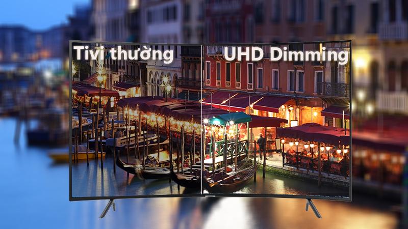 công nghệ UHD Dimming Smart Tivi Cong Samsung 4K 55 inch UA55NU7300