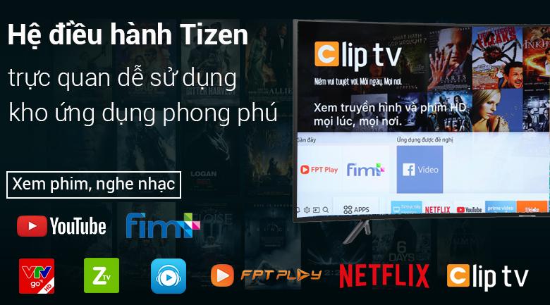 hệ điề hành Smart Tivi Cong Samsung 4K 55 inch UA55NU7300