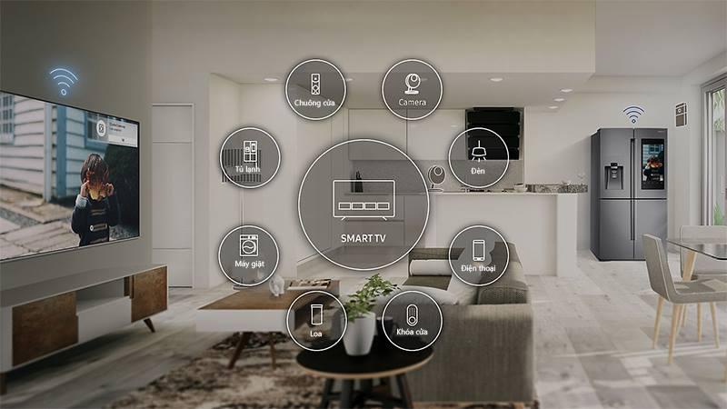 ứng dụng SmartThings Smart Tivi Cong Samsung 4K 55 inch UA55NU7300