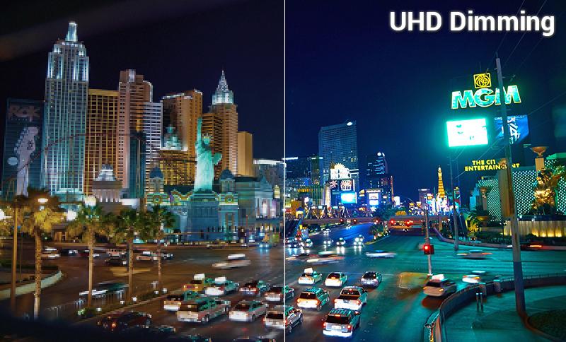 Công nghệ UHD Dimming Smart Tivi Samsung 4K 55 inch UA55NU7400