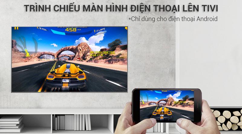 Chiếu màn hình điện thoại lên Smart Tivi Samsung 4K 55 inch UA55NU7400