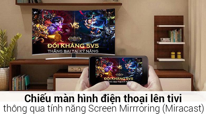 Tính năng Screen Mirroring trên Smart Tivi Cong Samsung 55 inch UA55NU8500