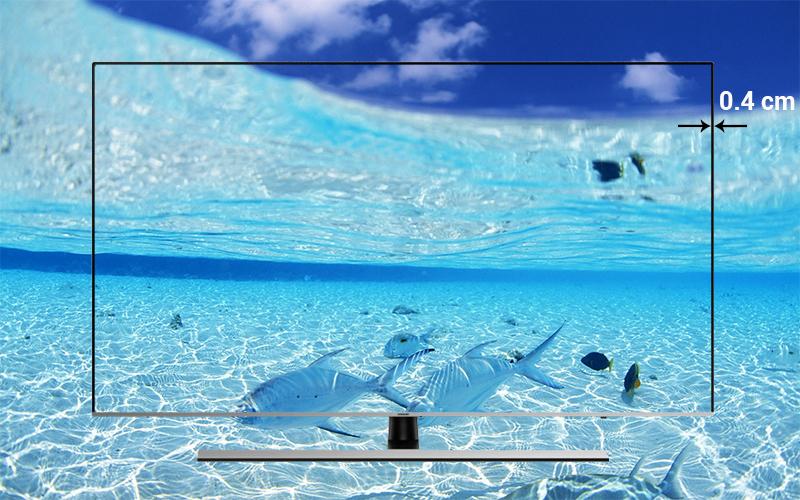 Thiết kế màn hình tràn viền 3 cạnh trên Smart Tivi Samsung 4K 65 inch UA65NU8000