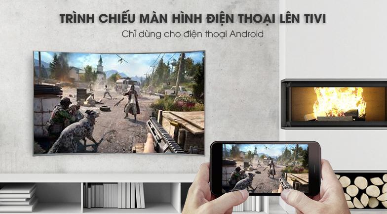 công nghệ Screen Morroring Smart Tivi Cong Samsung 65 inch UA65NU7500