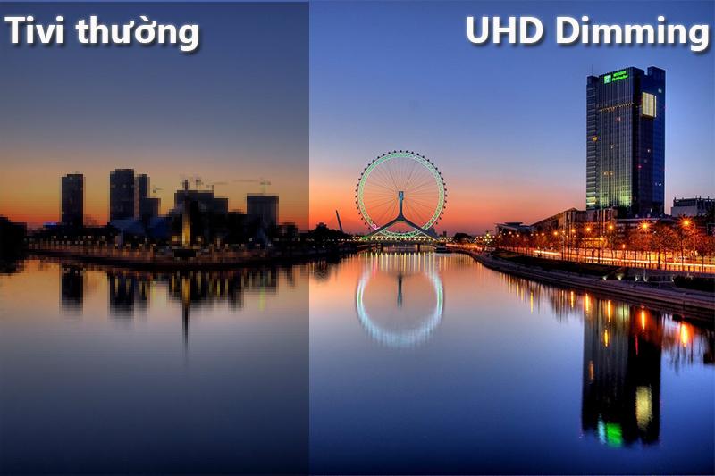 công nghệ UHD Dimming Smart Tivi Cong Samsung 65 inch UA65NU7500