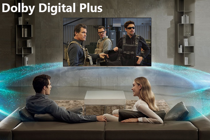 công nghệ Dolby Digital Plus Smart Tivi Samsung 4K 75 inch UA75NU8000
