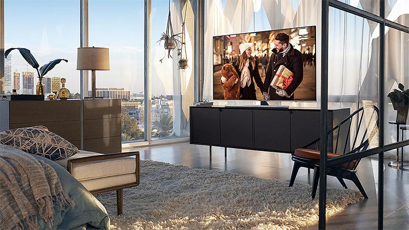 hình tổng quan Smart Tivi Samsung 4K 75 inch UA75NU8000
