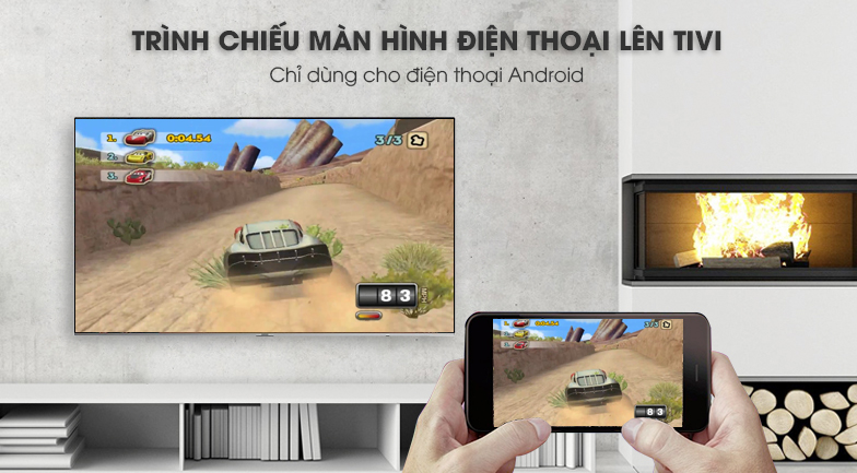 ứng dụng Screen Mirroring Smart Tivi Samsung 4K 82 inch UA82NU8000
