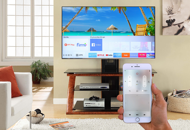 ứng dụng Samsung smart view Smart Tivi Samsung 4K 82 inch UA82NU8000