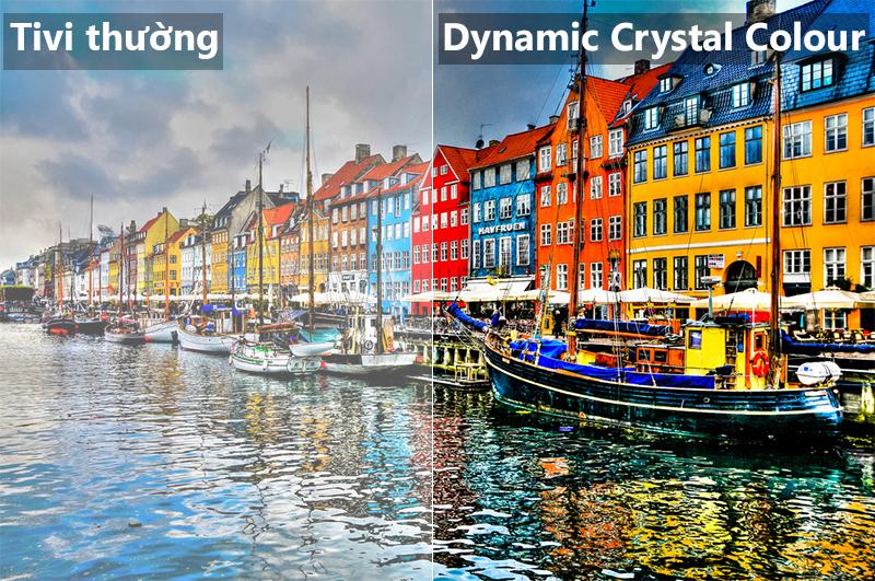 Công nghệ Dynamic Crystal Colour Smart Tivi Samsung 4K 55 inch UA55NU8000