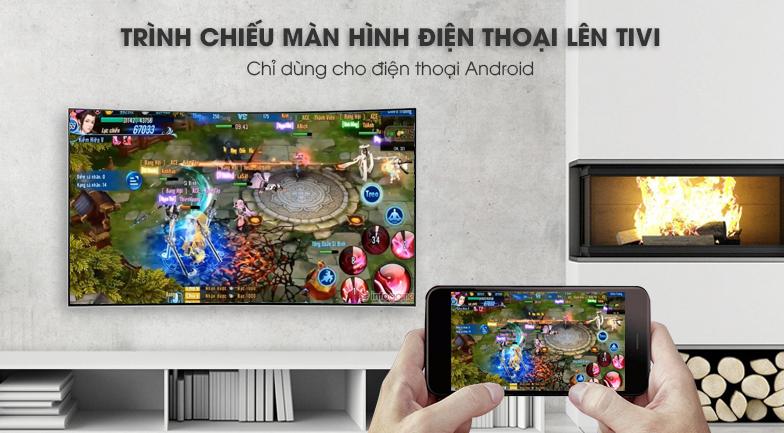 Chiếu màn hình điện thoại lên tivi Smart Tivi Cong Samsung 55 inch UA55NU7500