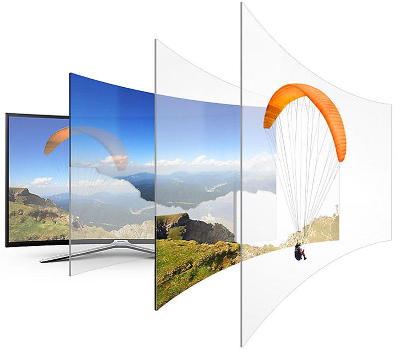 công nghệ tăng cường độ sâu tự động của Smart Tivi Cong Samsung 49 inch UA49NU7500