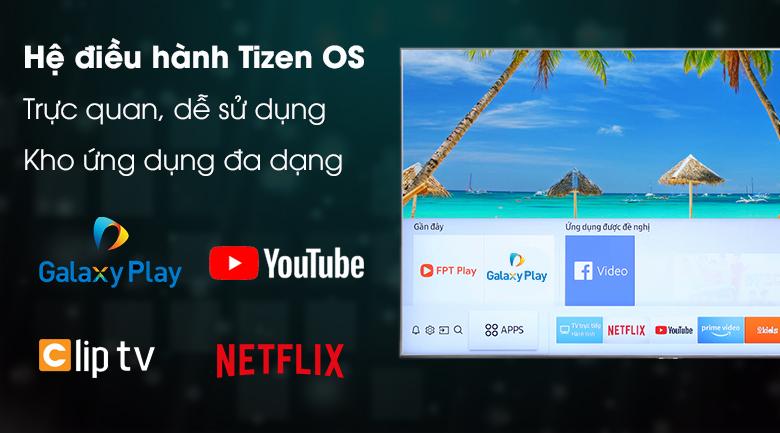 Hệ điều hành Tizen OS trực quan dễ sử dụng, kho ứng dụng phong phú Tivi Samsung 4K 50 inch UA50NU7400