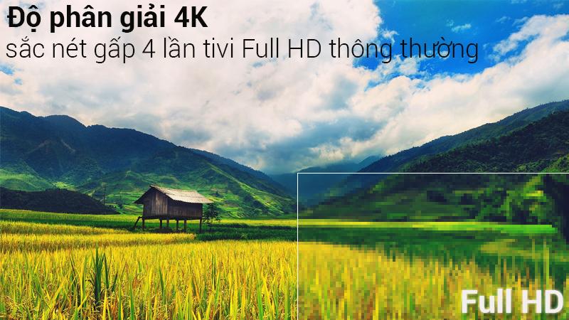 Độ phân giải 4K sắc nêt trên Smart Tivi Samsung 4K 43 inch UA43NU7400