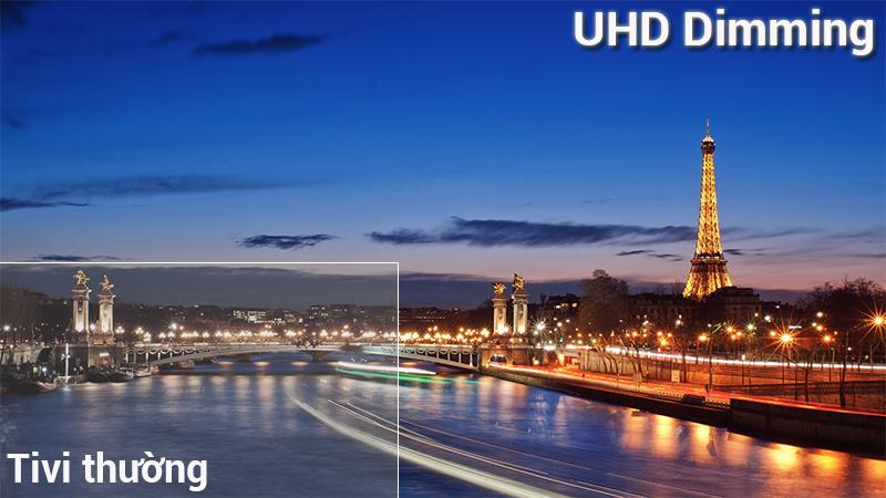 Công nghệ UHD Dimming trên Smart Tivi Samsung 4K 43 inch UA43NU7400