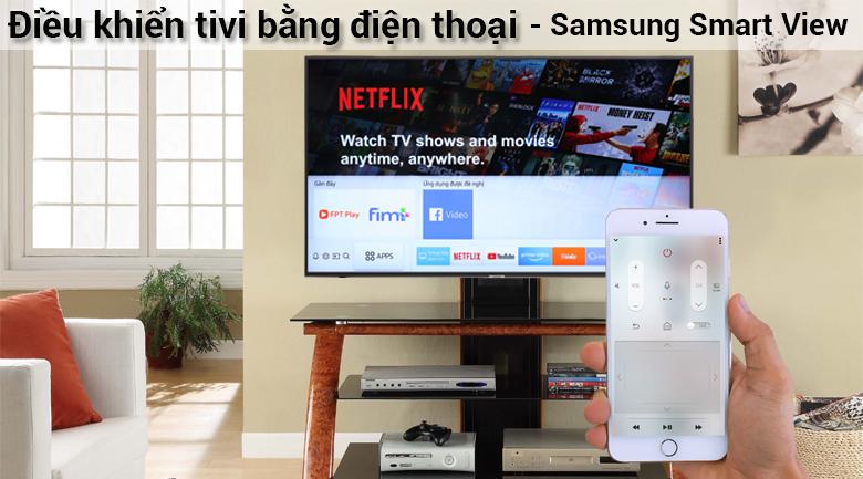 Điều khiển Smart Tivi Samsung 4K 43 inch UA43NU7400 bằng điện thoại