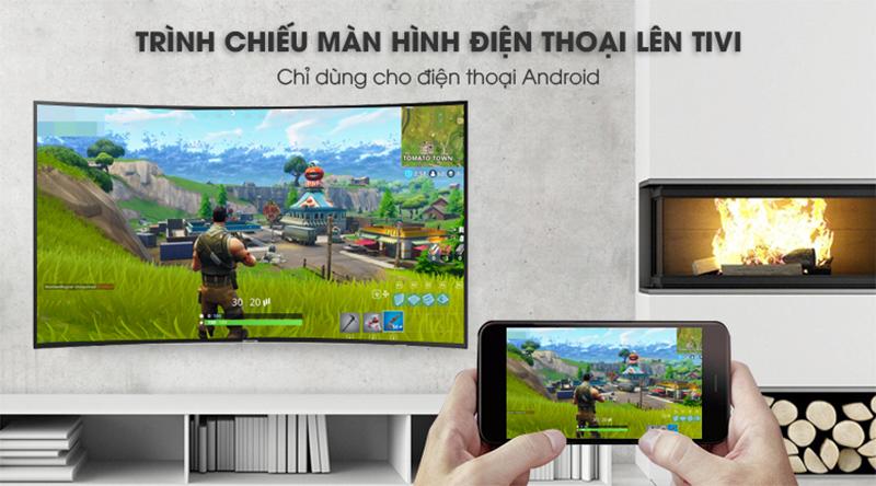 công nghệ Screen Mirroing Smart Tivi Cong Samsung 49 inch UA49NU7300