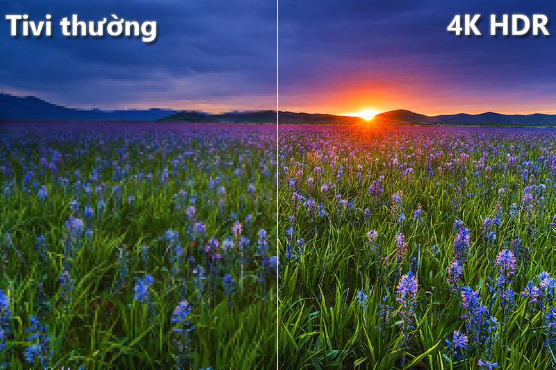 công nghệ 4K + HDR Smart Tivi Samsung 4K 58 inch UA58NU7103