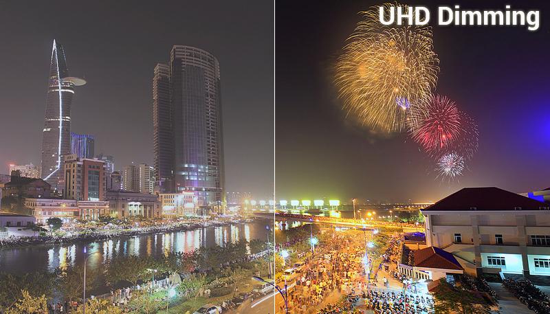 Công nghệ UHD Dimming trên Smart Tivi Samsung 4K 43 inch UA43NU7800